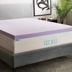 Lucid Twin XL Size Memory Foam Mattress Topper Bed 3 Inch Or
