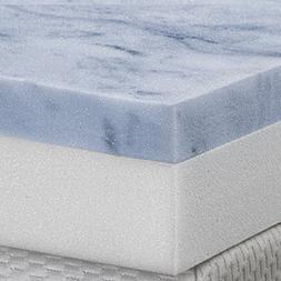 Serenia Sleep 4-Inch Two Layer Topper Gel Memory Foam Made i
