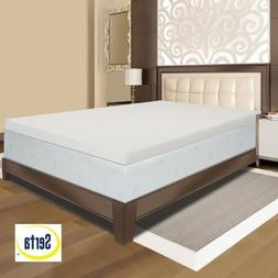 Serta Ultimate 4-inch Visco Memory Foam Mattress Topper - Fu