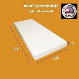 "FoamTouch Upholstery Foam Cushion Medium Density, 5"" H x 24"""