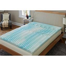 TruPedic USA CoolFlow 5 Zone 3-inch Textured Gel Memory Foam