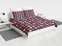 Valentines Day x Twin Bedding Set Colorful Diagonally Stripe