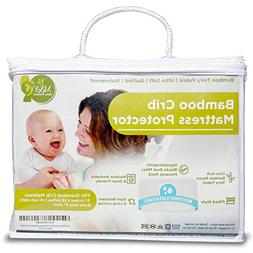 Waterproof Bamboo Crib Mattress Cover/Pad/Protector Hypoalle