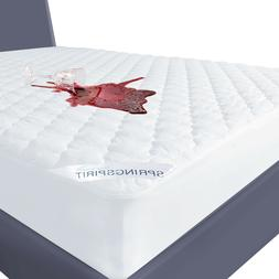 Waterproof Quilted Mattress Cover Pad Protector All Sizes Ab
