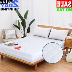 Microfiber Quilted Mattress Protector Pad Cover Topper Queen