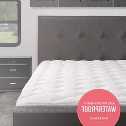 eLuxurySupply Waterproof RV Mattress Pad | Extra Plush Toppe
