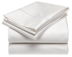 Wrinkle-Free Hotel Collection Solid White Twin Extra Long Mi
