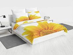 Yellow qieen Bedding Set Flourishing Sun Flower Design Moder
